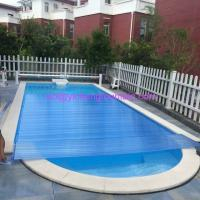 China Polycarbonate UV Stable Pool Covers Above Ground Types Beautiful Easy Control wholesale