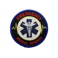 China Medical Services Embroidery Patch, Custom Embroidery Patches With Iron Glue On Back Side on sale