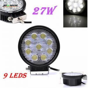 China 27W LED Work Light 30 Degree High Power LED Offroad Light Round Off road LED Work Light SpotLights on sale
