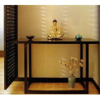 Buy cheap 5 Star Hotel Lobby Solid Wood Console Table Walnut  Veneer Reception Table product
