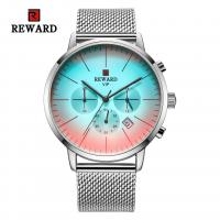 Buy cheap China wholeasale stainless steel mens watches chronograph watch with mesh strap from wholesalers