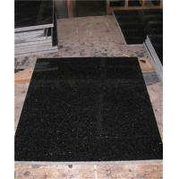 Polished Black Granite Floor Tiles Customized Size CE Certification