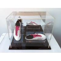 Buy cheap clear acrylic shoe boxes plexiglass acrylic shoe display case with lid product