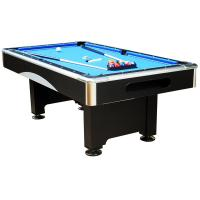 China Chromed coner 7 FT Electronic Billiard Table with Flash and Busic wood pool table on sale