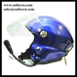 Buy cheap ヘッドホーンの青の開いた表面PPGヘルメット2側面PTT制御を用いる取り消しのParamotorのヘルメットの青を言い触らして下さい product