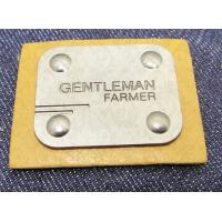 Buy cheap Manufacturer custom metal jeans pu label and printing leather patch label clothing label tag for jeans product