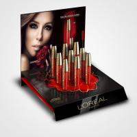 China Retail Store Beauty Display Stands , Retail Counter Display Stands With Poster on sale