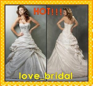 Buy cheap Vestidos de boda Appliqued goteados amor de la compra del tafetán de la línea A barato en línea product