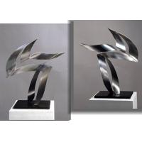 Buy cheap Customized Modern Stainless Steel Art Sculptures Indoor Decorative Brushed Finishing product