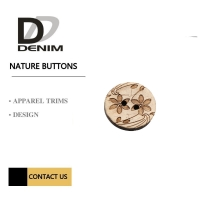 Buy cheap Natural Coconut Button Layered Pattern product