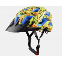 China Yellow Graffiti Professional MTB Enduro Helmets , Blue EPS Color Available and CE Certified wholesale