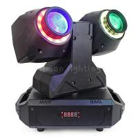 Buy cheap Unlimited Pan Rotation Double Head 30w RGBW 4in1 Mini Dual Beam LED Moving Head  Light product