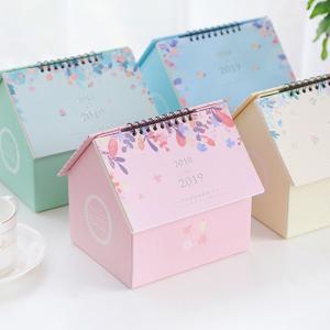 China House Shape Creative Table Calendar , Yearly Desk Calendar Various Color Available on sale