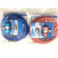 China Red and Blue Color r134a refrigerant hose with Brass Fittings and Charge couplers on sale