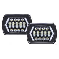 Buy cheap 5x7 Inches Offroad LED Driving Fog Lights , 4500lm LED Rectangular Headlights product