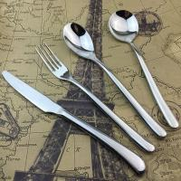 Buy cheap Silver Stainless Steel Cutlery Dinner Knife / Fork / Spoon High-grade Banquet Tableware product