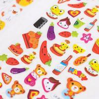 Buy cheap Colorful Food Animal Epoxy Stickers 2.2MM Thick For Decoration And Mark product