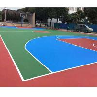 Buy cheap Colorful Thick PU Sports Flooring Polyurethane Materials Self Leveling Coating product