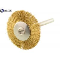 Buy cheap 3*22 T Shape Crimped Wire Wheel Brush Brass End Brushes Steel Wire Custom Size product