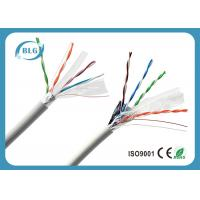 FTP Cat6 Network Cable 100% Copper Conductor 4 Pairs Low Resistance Data Transmission Cabling