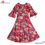Buy cheap 89D18026 New 15Dollor Summer Fashion V-Neck Half Sleeve Floral Print Women High Waist Beach Dress product