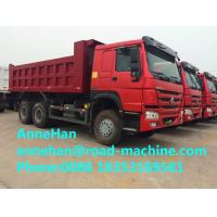 Buy cheap Mining Industry Heavy Duty Dump Truck 336HP 6X4 RHD 30 Ton White / Red / Green product