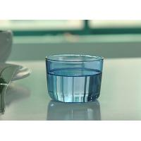 China Colored high borosilicate pyrex double wall drinking glasses , Light blue on sale