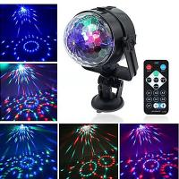 Buy cheap USB Interface Remote Controller LED Crystal Car Small Magic Ball Light Colorful Rotating Stage Effect Lights product
