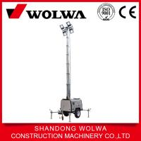 China portable led light tower with 8.5 meter height and 150kw light on sale