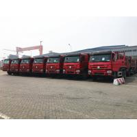 Buy cheap 25T 336hp 371hp HOWO Dump Truck 6 X 4 10 Wheel Red Color Steering ZF8118 product