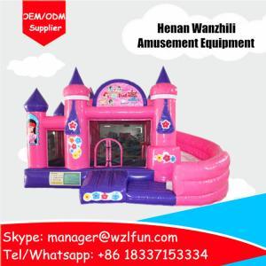 les jouets gonflables de château de princesse se retranchent le matériel plein d'entrain de PVC de château