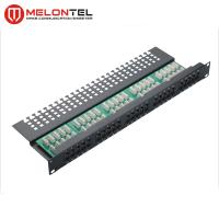 Buy cheap 50 Port Voice Data Patch Panel 19 Inch 1U RJ11 90 Degree With Krone IDC from wholesalers