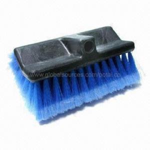 China Car Wash Brush with Polypropylene Foam Block/PVC Feathered Tip Bristles on sale