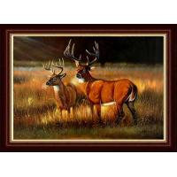 Buy cheap hand painted wild animal oil painting product