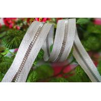 Buy cheap Smoothly Resin Zipper With Silver Teeth / No 5 Plastic Zipper product