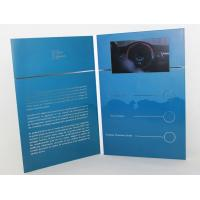 China 5 silver printing Video Brochure Card , fair display lcd video business cards on sale