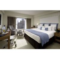 Buy cheap Deluxe Hotel Room Furnishings ,  King Size Hotel Guest Room Furniture In PU Finish product