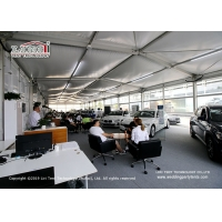 Buy cheap Aluminum 10x40m Cube Structure Exhibition Tent Car Show Glass Hard Wall product