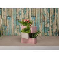 Buy cheap Multi Color Abstract Flower Pots Polyethylene Material With A Drainage Hole product