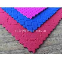 Buy cheap Customized Colorful Various Shape Neoprene Fabric 5mm OK Lycra Fabric Rubber Sheet with Mesh Fabric product
