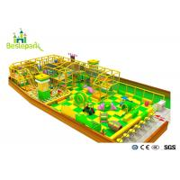 Buy cheap Green Yellow Color Indoor Soft Playground With Protective Web / Climbing Wall product