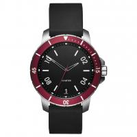 Buy cheap Waterproof Simple Luxury Watches , Understated Mens Watches Black Silicone Strap product