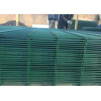 Buy cheap Triangular V Type PVC Coated Welded Wire Mesh Fencing / Green Metal Fencing product