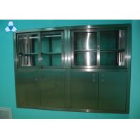 Buy cheap Drug Storage Hospital Air Filter Stainless Steel Medical Cabinets With Manual Sliding Half - Glass Door product