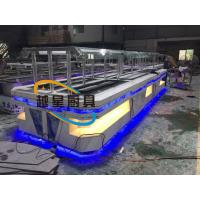Quality Yellow LED Commercial Buffet Equipment Granite Marble Tops Overhead Crystal for sale