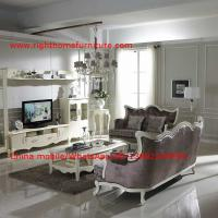 Buy cheap Neoclassical Living Room Furniture by Pure white Wall Unit and Coffee table with Luxury Sofa set product
