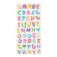 Buy cheap Animal Shape Alphabet Lovely Puffy Adhesive Stickers Classroom Student Learning 3D 1.8mm Thick product