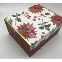 Buy cheap S to X Large Children'S  Christmas Cardboard Gift Boxes With Lids Foldable Beautiful Red Color product