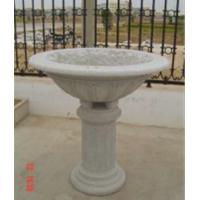 Buy cheap Big Flower Bed, Light Grey Granite Flower Pot, Stone Carvings product