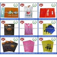China Glossy LDPE Die Cut Handle Shopping Bags Retail Merchandise Type Biodegradable on sale